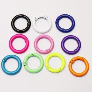 10Pcs Round pendants Enamel Summer colors pendants for women jewelry round carabiner fashion jewelry pendant   for women 51210