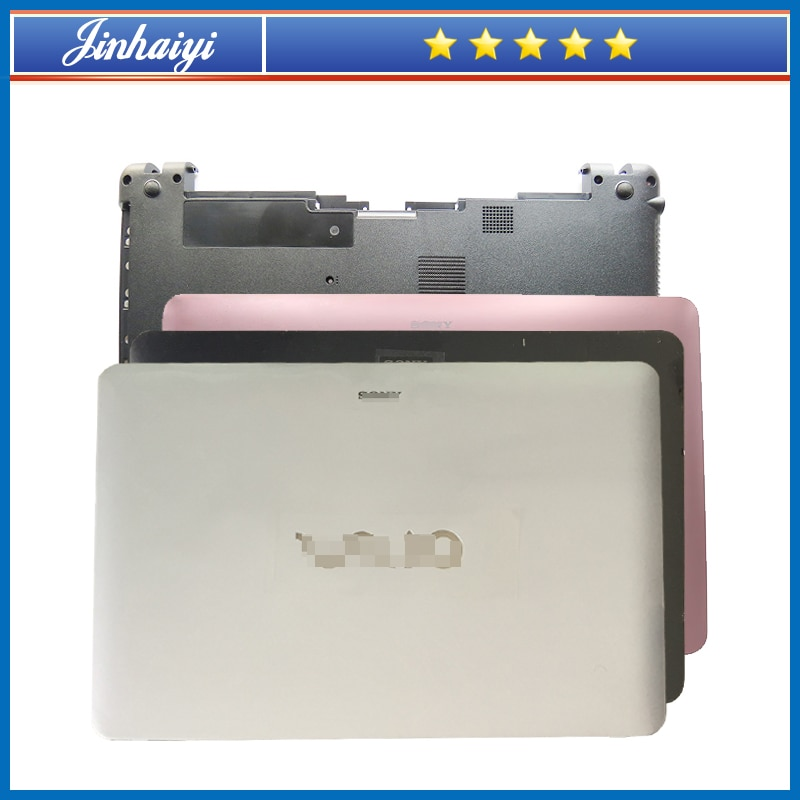 غطاء علوي سفلي لشاشة الكمبيوتر المحمول Sony SVF15 SVF152 SVF153 a23t a1qt A1STA c29v ، لوحة مفاتيح بإطار خلفي لشاشة الكمبيوتر المحمول