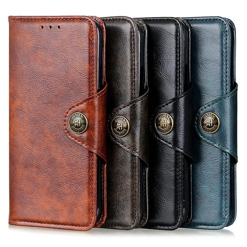 Retro Leather Classic Wallet Capa for Motorola Moto E6 Plus Case Motorola E6 Flip Cover for Moto E6 Play E 6 E6S 6E 360 Protect