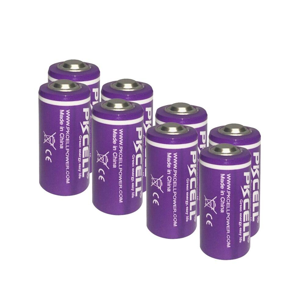 Bateria para Dispositivos de Iluminação Er14250 em 3.6v Pces Pkcell Lítio 1 – 2aa Li-socl2 Led Gps Sonobuoys Substituir Saft Ls14250 8 1200mah