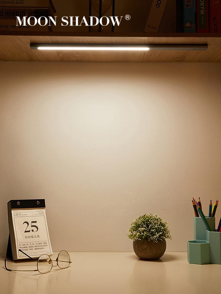 MOONSHADOW 야간 조명 Dormitorio 터치/센서 라이트 침실 장식 눈 보호 책상 Usb 독서 충전 야간 램프