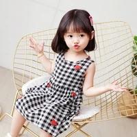 girls dress toddler summer kids clothes cotton floral skirts braces slip sundress
