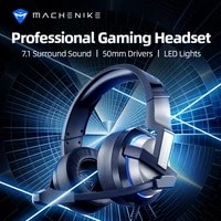 machenike h300 gaming headset earphone usb wired headset gamer headphones with noise canceling microphone for pc computer laptop