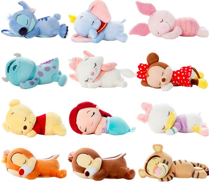 Adorável dumbo deitado donald unisex, brinquedos de pelúcia, adorável, anime, boneca, animal fofo, presente de pelúcia para crianças, aniversário