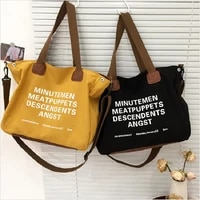 2021 new high quality canvas large capacity tote bags casual women shoulder bag fashion casual female portable handbags for girl