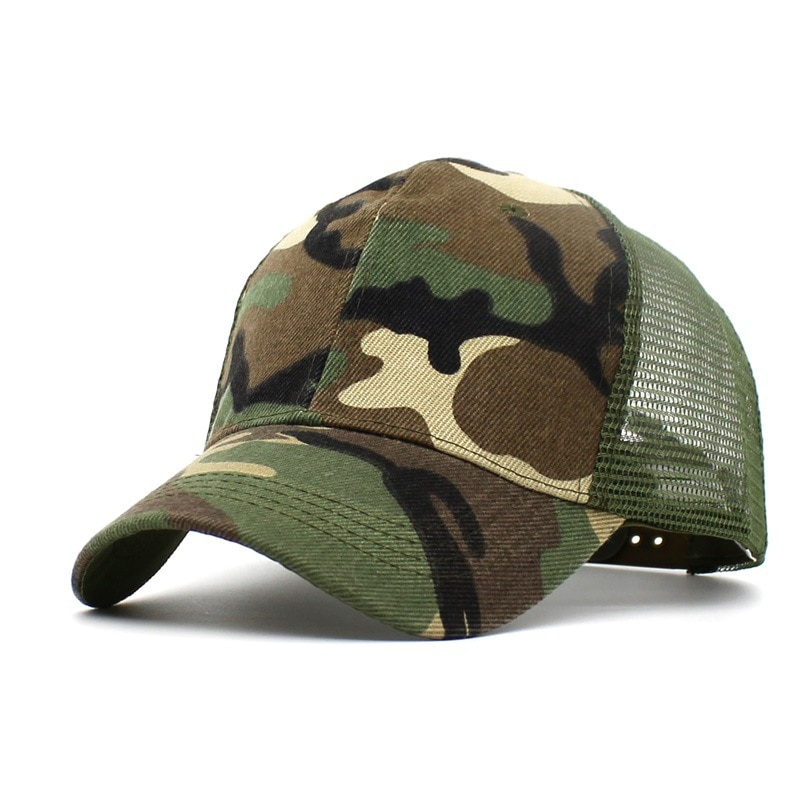 Unisex Fashion Outdoor Baseball Cap Mesh Trucker Fishing Military Army Camo Hat Outdoor Wild Travel Cap unisex new curved bill blue pine tree dipper gravity falls cartoon hat outdoor changable cap trucker only blue