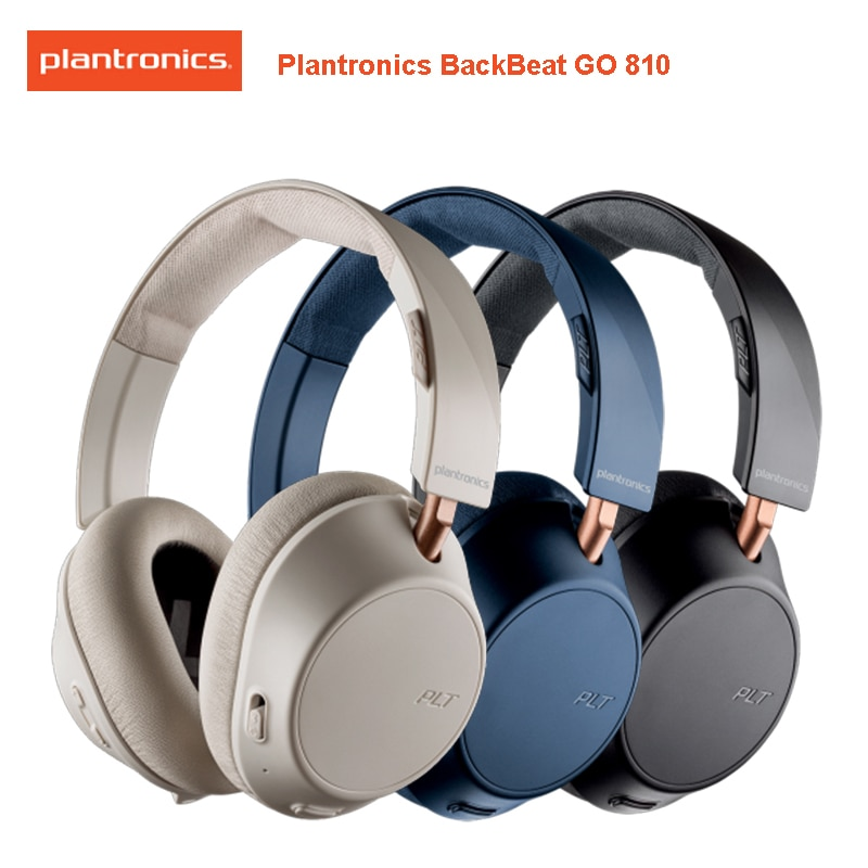 Plantronics BACKBEAT GO 810 Wireless ANC Headphones with Bluetooth-compatible 5.0 Support Beckbeat APP for Xiaomi Huawei Samsung