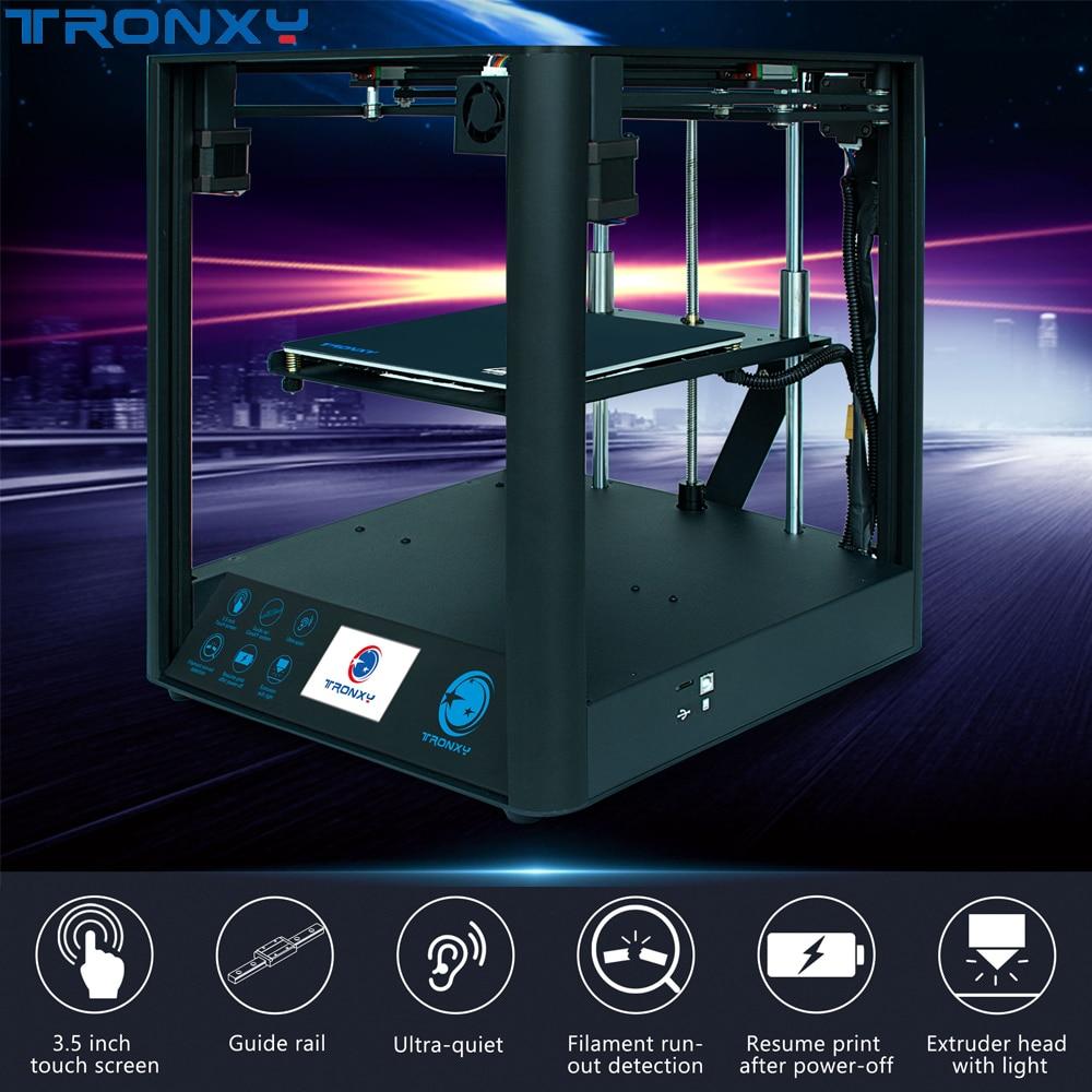 Tronxy D01Ultra-Quiet, diseño de impresora 3D, guía lineal Industrial, núcleo de carril, extrusora Titan, impresión de alta precisión, ensamblaje rápido