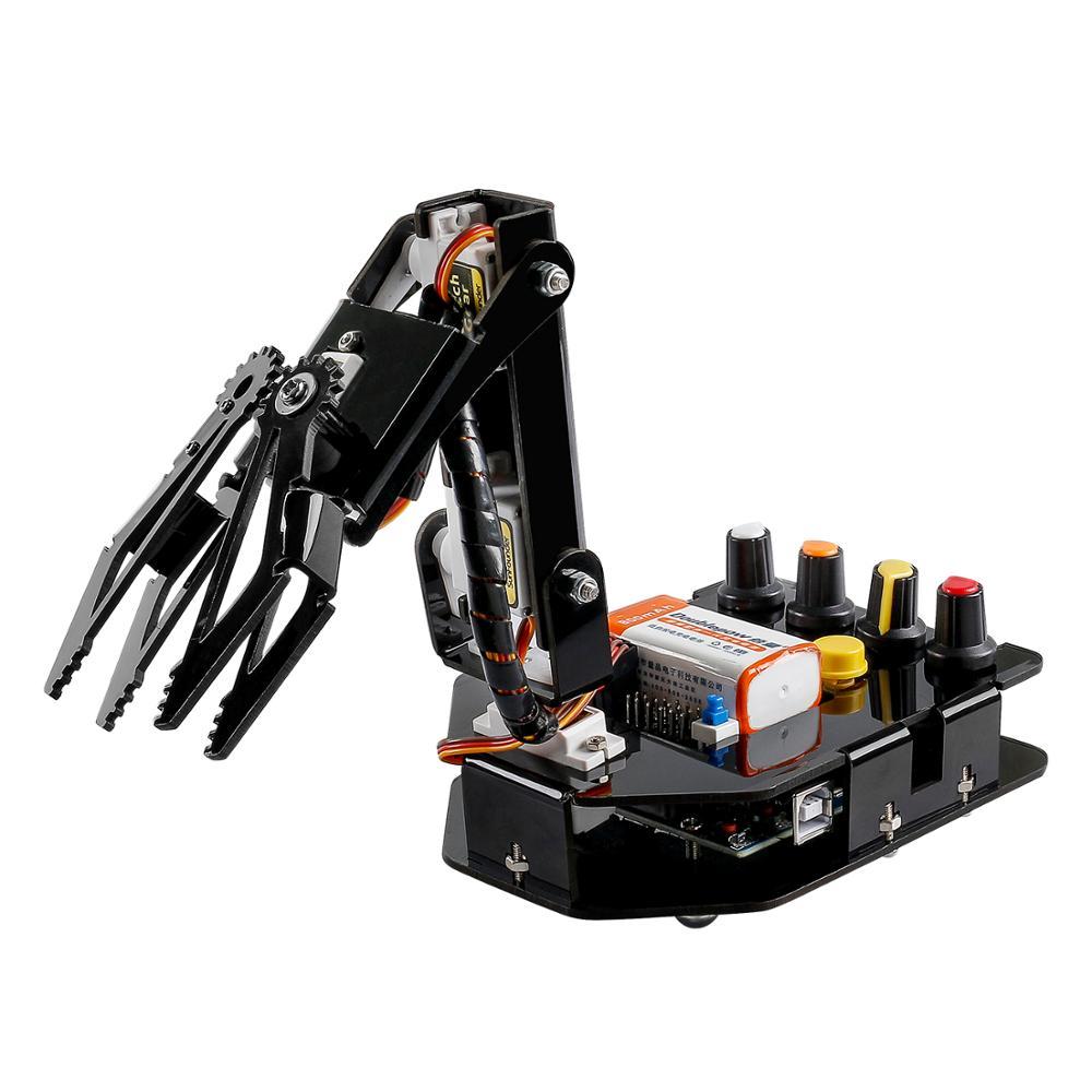 SunFounder RC Programmable Robot Elctronic Robotic Arm Kit 4-Axis Servo Control Rollarm for Arduino DIY Robot Kit For Children