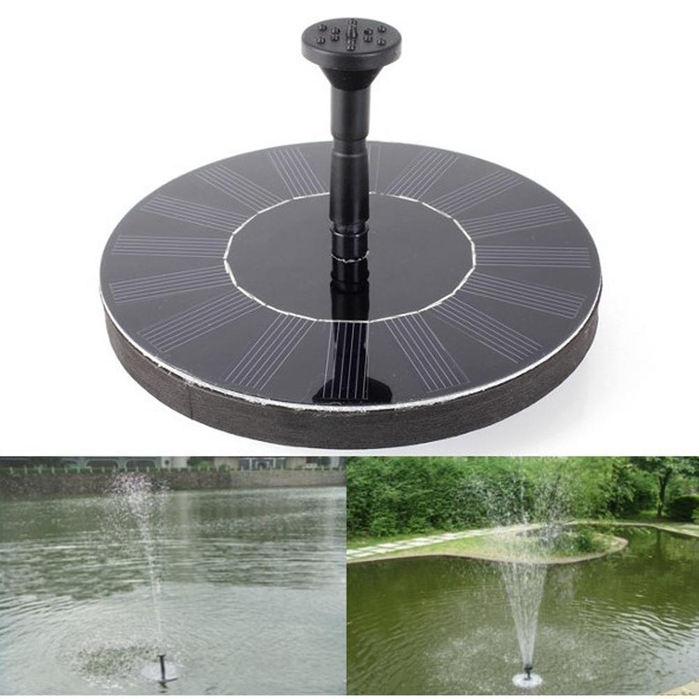 7V 1,4 W ronda Fuente Solar flotante Kit de Panel de potencia de la bomba de agua Solar para pájaros fuente jardín piscina Piscina de la casa de decoración