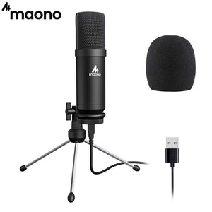 MAONO AU-A04TR USB Microphone Metal 192kHz/24bit Condenser PC Mic With Tripod for Podcast, Gaming, Recording, YouTube,Vlogging