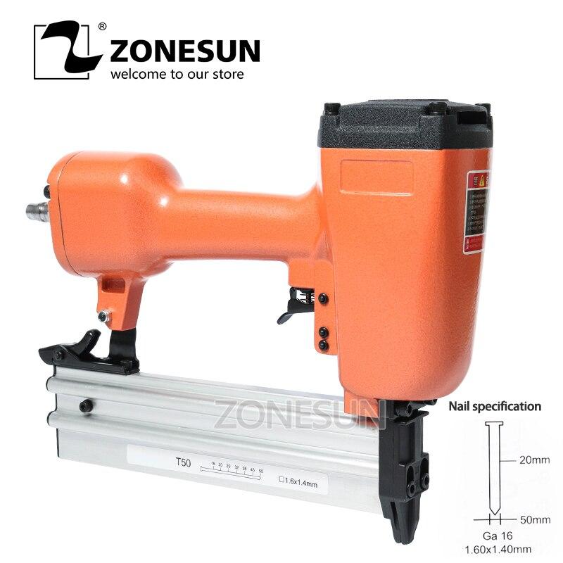 ZONESUN-دباسة هوائية, دباسة هواء هوائية دباسة مسدس دباسة مسدس أظافر آلة دباسة للأثاث النجارة النجارة الديكور النجارة 50 مللي متر