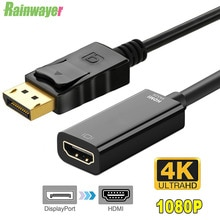 1080P HDMI-compatible Adapter DisplayPort To HDMI-Display Port Male To Female Converter Cable Adapte