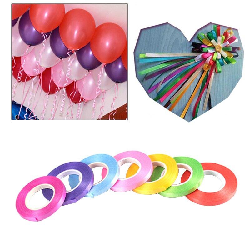 1 Roll 10M Balloon Ribbon Roll Foil Latex Balloons Decoration Wedding Decoration Gift Box Decor Birthday Festival Party Supplies