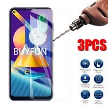 3Pcs Full Cover Transparent Glass For Samsung M01 M11 Tempered Glass For Samsung M21 M31 Phone Film