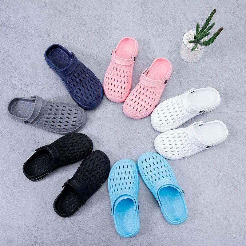 2020 Men Shoes Lovers Light Crokks Clogs Slippers Unisex Couple Flip Flops Non-slide EVA Beach Casual Women's Sandals