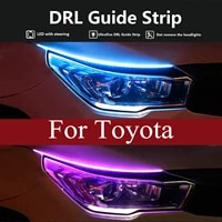 2x led drl car daytime running light strip for toyota tacoma 4runner tundra auris avensis camry celica corolla fortuner hilux