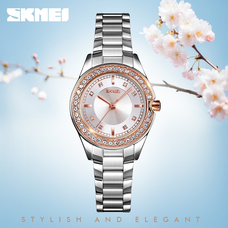 SKMEI Relogio Feminino Ladies Women Quartz Watch Stainless Steel Strap Female Waterproof Wristwatch Clock Montre Femme 1534 enlarge