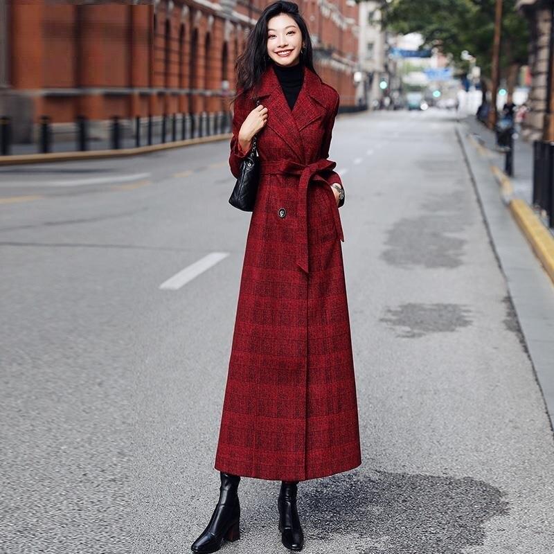 FairyShely Korean Fashion White Woolen Overcoat 2021 Women Autumn Winter New Plus Size Female Long S