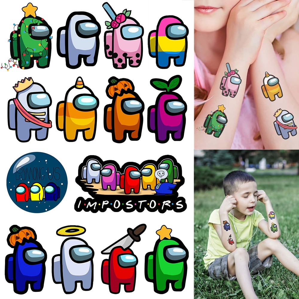 cartoon-theme-stickers-waterproof-temporary-tattoo-stickers-for-men-women-kids-game-tattoo-sticker