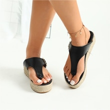 MCCKLE Women's Sandals Gladiator Platform Flat Slippers for Women Cork Trend Female Outdoor Flip Flo