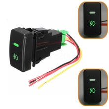 5 Pin Car Push Button Fog Light Switch LED Light Display Kits For Honda Civic