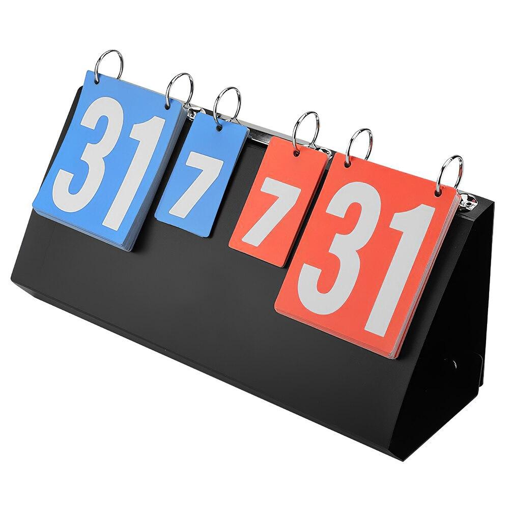 4-أرقام لوحة التسجيل واضح منضدية لوحة النتائج الحلي ممارسة الرياضة في الأماكن المغلقة لمعدات كرة السلة تنس طاولة الكرة الطائرة