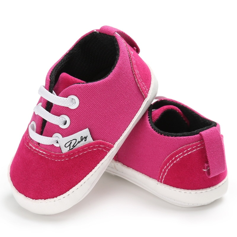 2018 spring autum new infant sports baby boy shoes of children 1 3 years toddler soft bottom hook Newborn Shoes Infant Toddler Baby Boy Girl Spring Autumn Soft Bottom Spring Canvas Shoes Walkers Newborn0- 18M
