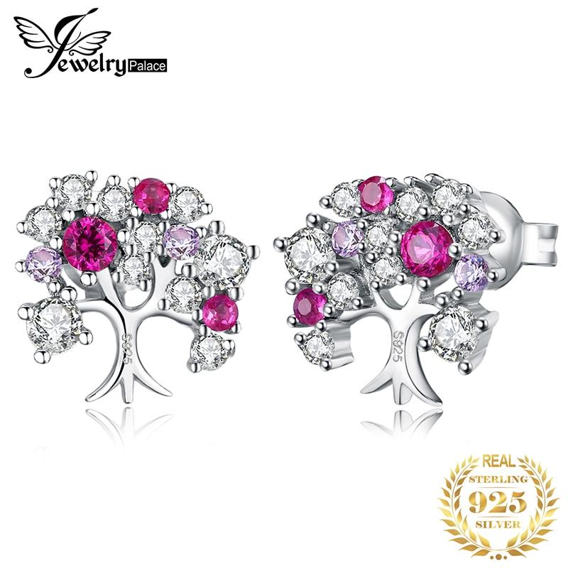 Женские серьги-гвоздики JewelryPalace Lift Tree, серьги из стерлингового серебра 925 пробы, корейские серьги, модные ювелирные изделия 2020
