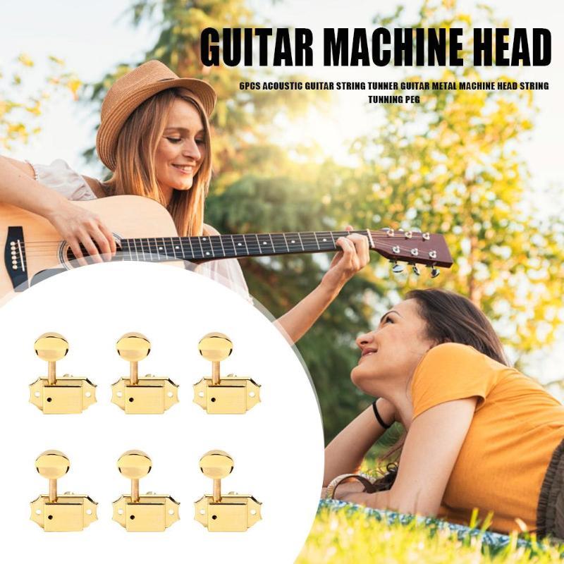 6pcs Durable Guitar String Tunners Portable Musical Instrument Folk Guitar String Tunning Pegs Guitar String Tunner