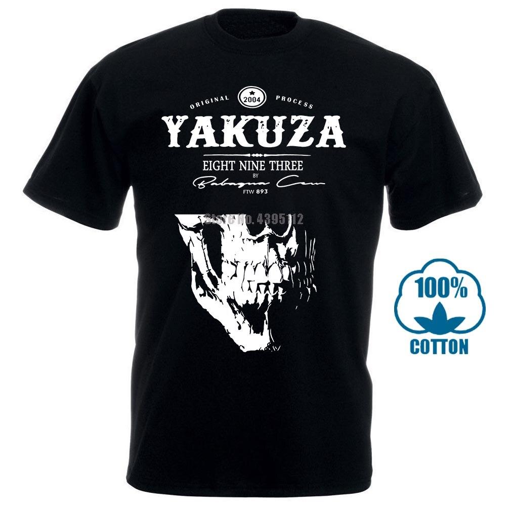 Nueva Moda de Moda Yakuza camiseta 1 para hombre Girocollo Maniche Basa Casual Top Abbigliamento Di Moda camiseta de Moda 100% algodón