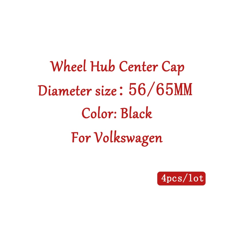 4 uds/56/65mm coche tapas de centro de cubo de rueda tapacubos llantas para vw Volkswagen MK4 MK5 Passat B5 B6 de Tigua de Polo Golf bora Jetta R32