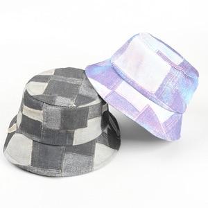 2021 four seasons Cotton plaid print Bucket Hat Fisherman Hat outdoor travel Sun Cap for Men and Women 332