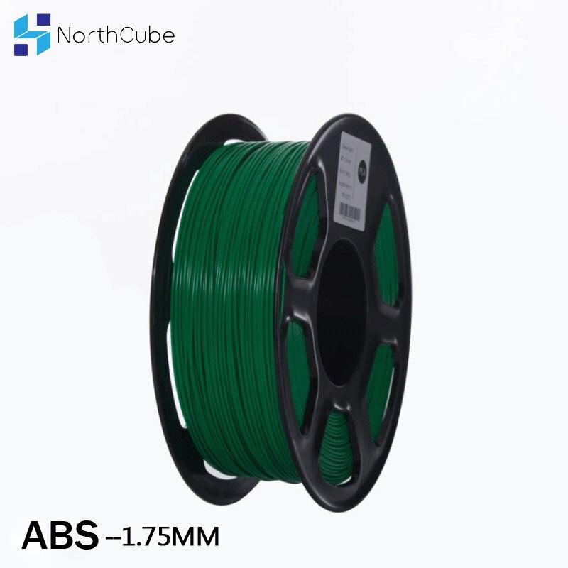 خيوط ABS للطابعة ثلاثية الأبعاد ، 1.75 مللي متر ، 1 كجم ، مواد طباعة بلاستيكية ثلاثية الأبعاد ، أخضر