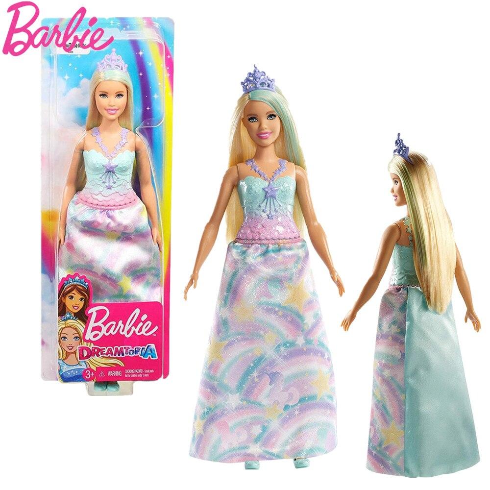 Original Barbie Marke Bunte Traum Serie Prinzessin Spielzeug Lange Rock Boneca Modell Sammlung Puppe Große Geschenk Box Party Set FXT14