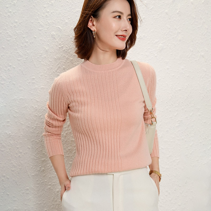 adohon 2021 woman winter 100% Cashmere sweaters and autumn knitted Pullovers High Quality Warm Female thickening O-neck enlarge