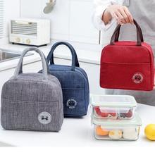 Nouveau sac à déjeuner Portable nouveau thermique isolé boîte à déjeuner fourre-tout refroidisseur sac à main sacs à déjeuner pour les femmes pratique boîte fourre-tout sacs alimentaires