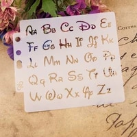 1pcs 13cm alphabet letters s64 diy layering stencils painting scrapbook coloring embossing album decorative paper card template