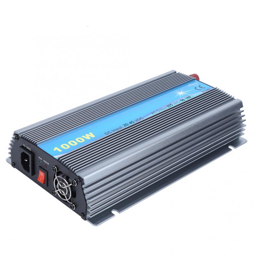 Inversor de 1000W Solar pequeño equipo Micro conectado a la red entrada 20-45V salida 110V US enchufe MPPT inversor