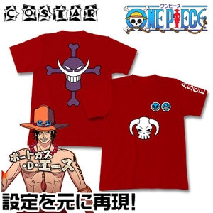 Genuine  T-shirt Fire Fist Ace Animation Peripheral Clothing COS Props