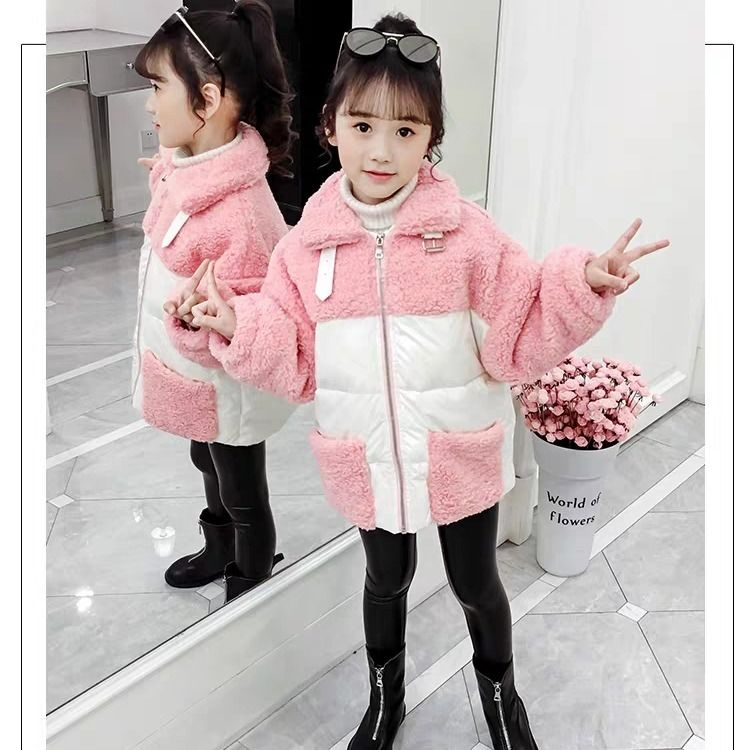 2020 Winter New Fashion Baby Girl Jacket Fur Thicken Toddler Child Warm Coat Kids Outwear Casual Clothes Children's Parka D22 enlarge