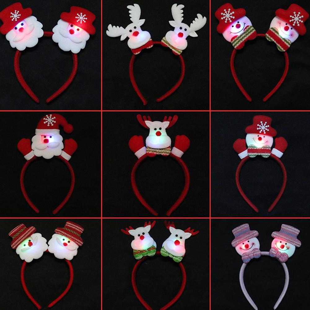 Adultos niños Navidad diademas Santa Hoop fiesta de Navidad Cosplay Prop regalos