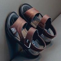 summer boy sandals soft soled non slip leather beach sandals adult kids shoes parent child shoes wear resistant flat sandals