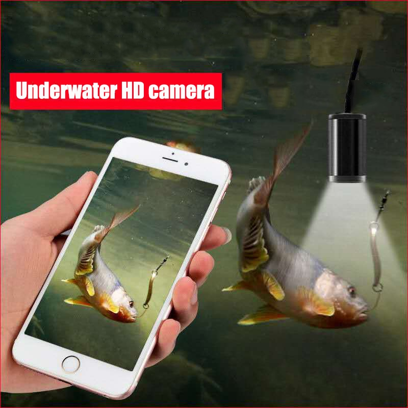 15M HD underwater camera 5 mega-pixel visual fishing device WiFi connection mobile phone tablet 8LED illuminated fish finder