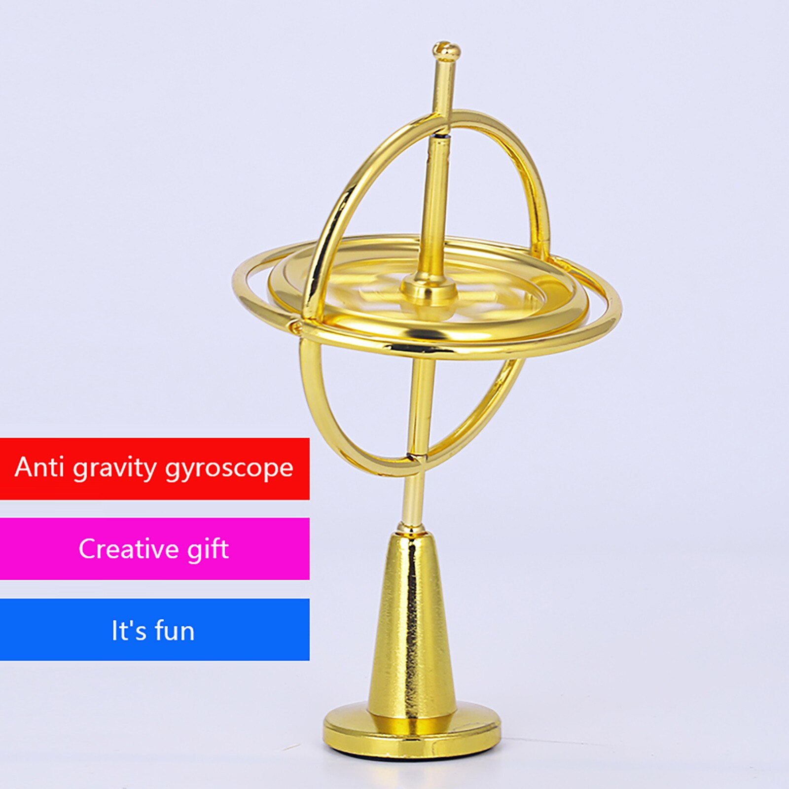2021 New Fidget Anti Stress Toy Educational Metal Finger Gyroscope Gyro Top Pressure Relieve Toy For Kids антистресс enlarge