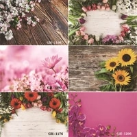vinyl custom photography backdrops prop flower and wooden planks photography background 0133