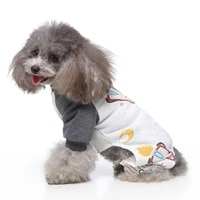 cute dog pajamas for pet dogs cat clothes puppy jumpsuit small large dogs cartoon printing coat chihuahua clothing dropshipping