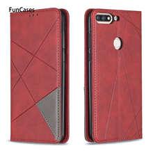 Couleurs étui en cuir pour carcaso Huawei Honor 7C étuis sFor Huawei telefoon profitez de 8 Nova 2 Lite Y7 2018 Prime 5.99