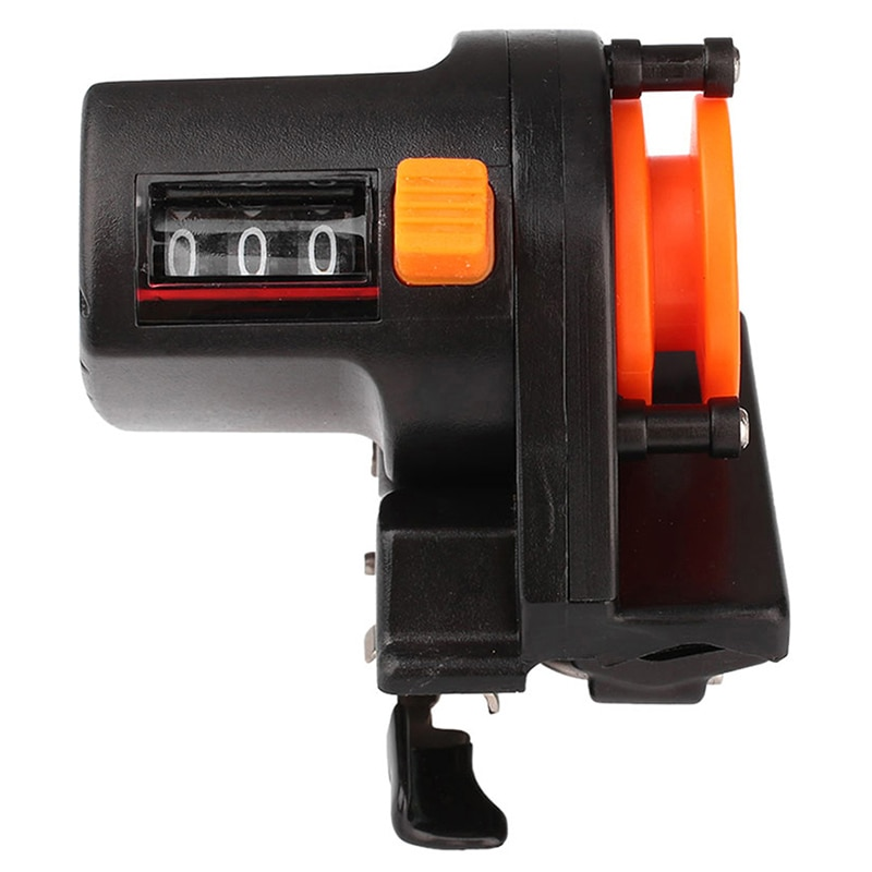 High precision 0-999m fishing line counter reel strong gauge meter plastic abs display fishing line finder counter depth