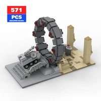 moc space stargate model classic tv series scene the door to the universe star interstellar travel toys kids gifts toys